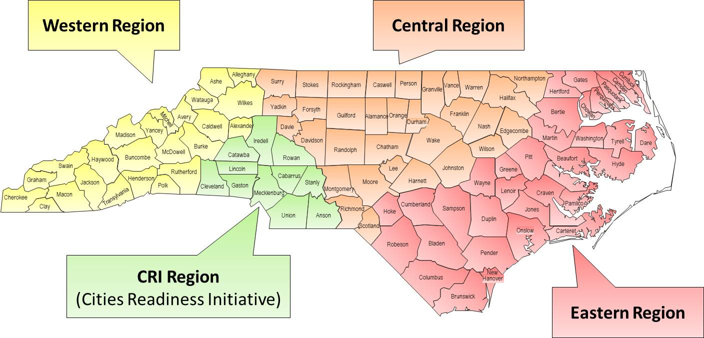 Nc Dph Epidemiology Preparedness And Response Regional Offices